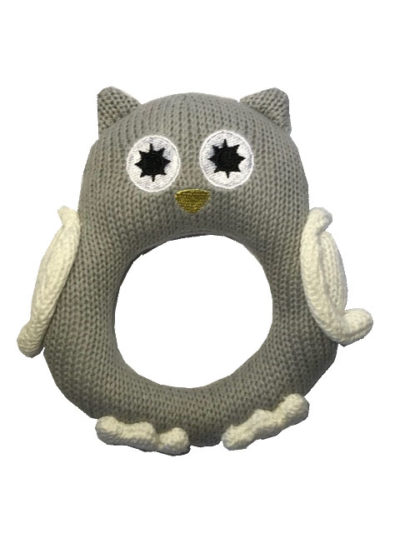 Knitted Owl Rattle