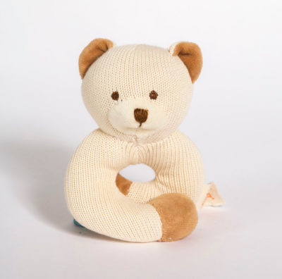 Knitted Wrist Rattle Bear