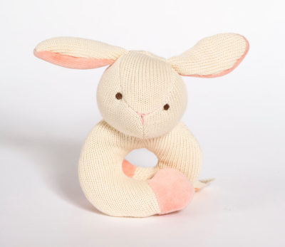 Knitted Wrist Rattle Bunny