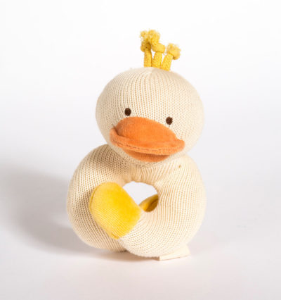 Knitted-Wrist-Rattle-Duck