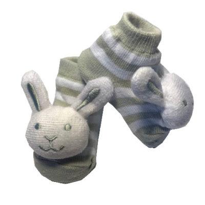 Rattle Socks, Grey Bunny