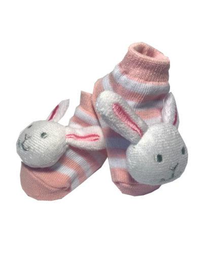 Rattle Socks, Pink Bunny